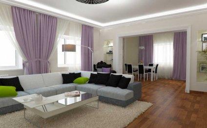 Интерьер гостиной оборудован