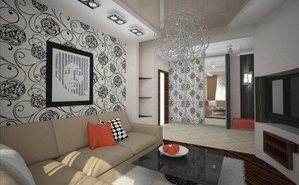 Дизайн гостиной в панельном