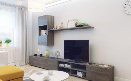 Дизайн интерьера 1-комнатной