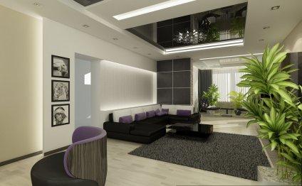 дизайн интерьера гостиной с