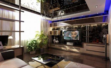 Дизайн гостиных с камином и