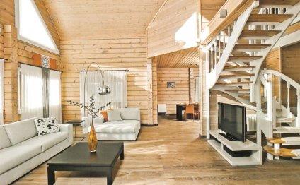 Интерьер дома из дерева 1