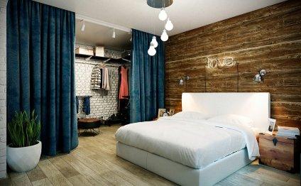 Недорогой интерьер спальни