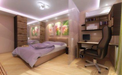 Спальня-кабинет: дизайн